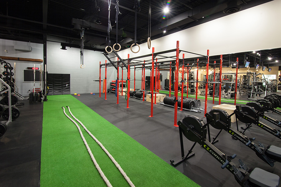 Astro Turf with Workout Station